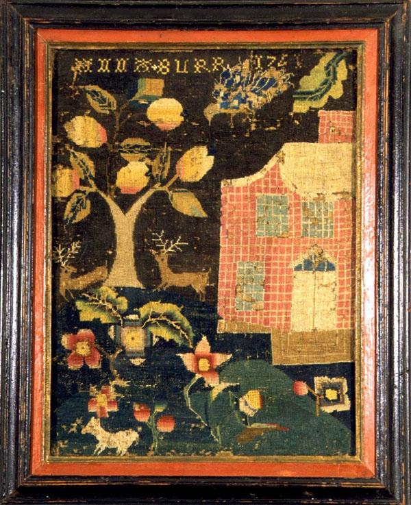 Anna Burr antique sampler from Carol & Stephen Huber