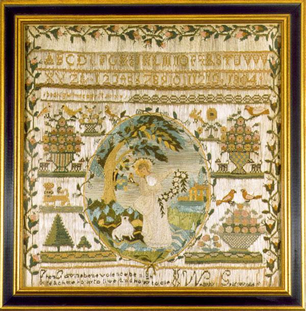 Wealthy Griswold antique sampler from Carol & Stephen Huber
