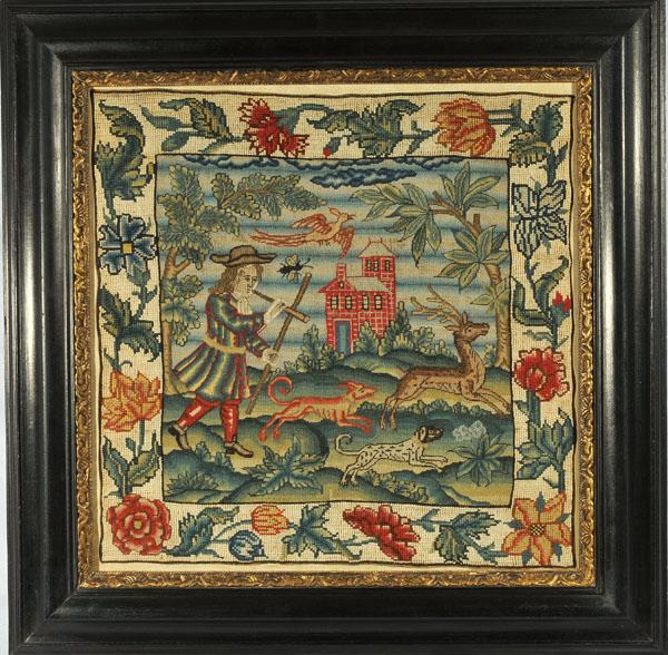 Huber Stumpwork 17th Century Needlework Early Textiles