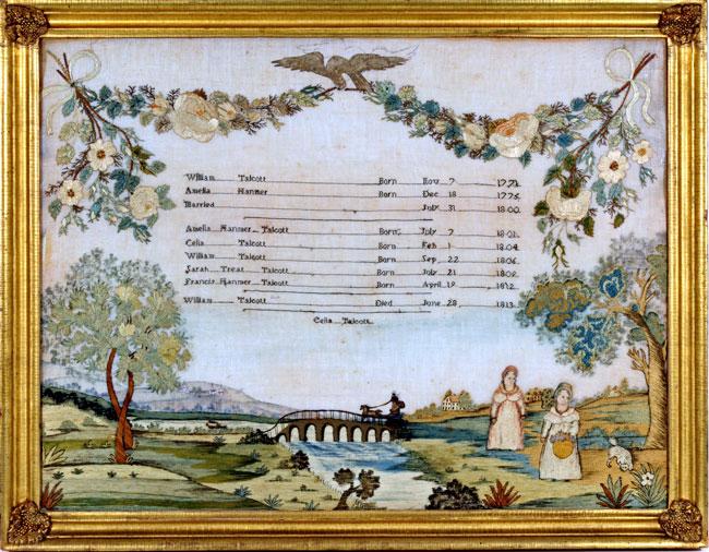 antique, sampler, needlework, Huber, antique samplers